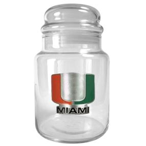 Miami Hurricanes 31oz Glass Candy Jar