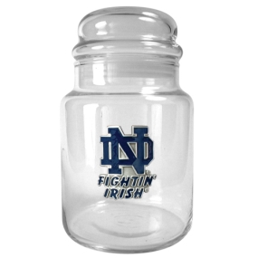 Notre Dame Fighting Irish 31oz Glass Candy Jar