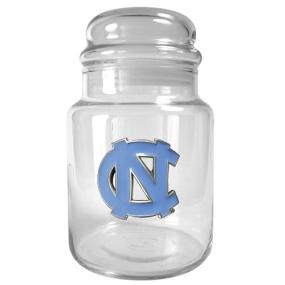 UNC Tar Heels 31oz Glass Candy Jar