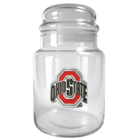 Ohio State Buckeyes 31oz Glass Candy Jar