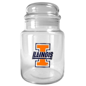 Illinois Fighting Illini 31oz Glass Candy Jar