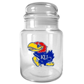 Kansas Jayhawks 31oz Glass Candy Jar