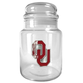 Oklahoma Sooners 31oz Glass Candy Jar