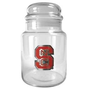 N.C. State Wolfpack 31oz Glass Candy Jar