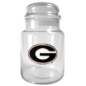 Georgia Bulldogs 31oz Glass Candy Jar