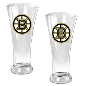 Boston Bruins 2pc 19oz Pilsner Glass Set