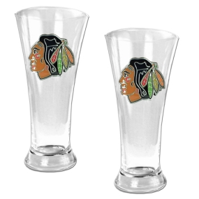 Chicago Blackhawks 2pc 19oz Pilsner Glass Set