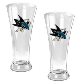 San Jose Sharks 2pc 19oz Pilsner Glass Set
