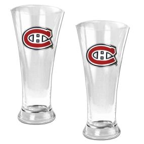 Montreal Canadiens 2pc 19oz Pilsner Glass Set