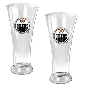 Edmonton Oilers 2pc 19oz Pilsner Glass Set