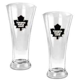 Toronto Maple Leafs 2pc 19oz Pilsner Glass Set