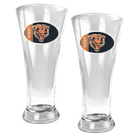 Chicago Bears 2pc 19oz Pilsner Glass Set