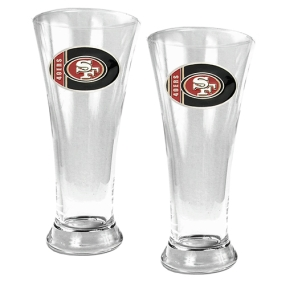 San Francisco 49ers 2pc 19oz Pilsner Glass Set