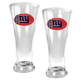 New York Giants 2pc 19oz Pilsner Glass Set
