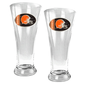 Cleveland Browns 2pc 19oz Pilsner Glass Set