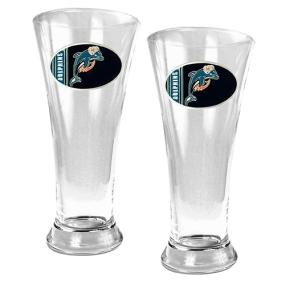 Miami Dolphins 2pc 19oz Pilsner Glass Set