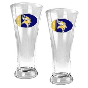 Minnesota Vikings 2pc 19oz Pilsner Glass Set