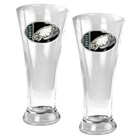 Philadelphia Eagles 2pc 19oz Pilsner Glass Set