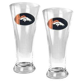 Denver Broncos 2pc 19oz Pilsner Glass Set