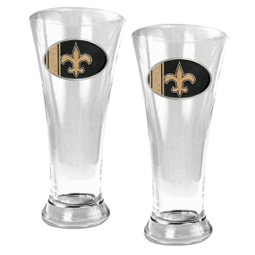 New Orleans Saints 2pc 19oz Pilsner Glass Set