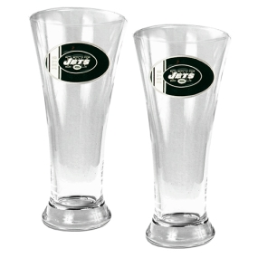 New York Jets 2pc 19oz Pilsner Glass Set
