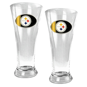 Pittsburgh Steelers 2pc 19oz Pilsner Glass Set