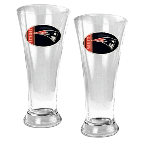 New England Patriots 2pc 19oz Pilsner Glass Set