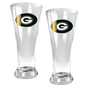 Green Bay Packers 2pc 19oz Pilsner Glass Set