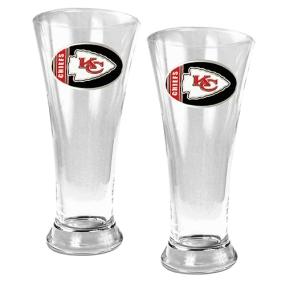 Kansas City Chiefs 2pc 19oz Pilsner Glass Set