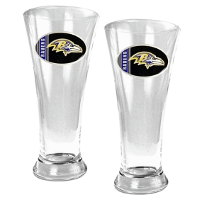 Baltimore Ravens 2pc 19oz Pilsner Glass Set