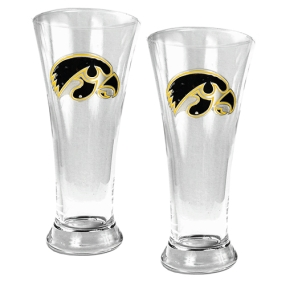 Iowa Hawkeyes 2pc 19oz Pilsner Glass Set
