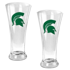 Michigan State Spartans 2pc 19oz Pilsner Glass Set