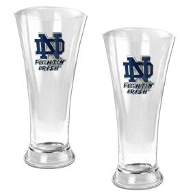 Notre Dame Fighting Irish 2pc 19oz Pilsner Glass Set