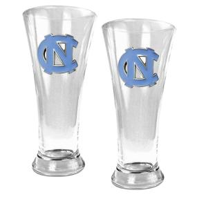 UNC Tar Heels 2pc 19oz Pilsner Glass Set