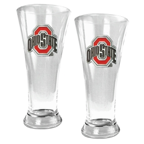 Ohio State Buckeyes 2pc 19oz Pilsner Glass Set