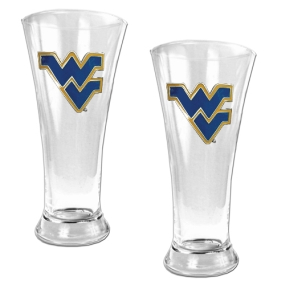 West Virginia Mountaineers 2pc 19oz Pilsner Glass Set