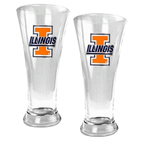 Illinois Fighting Illini 2pc 19oz Pilsner Glass Set