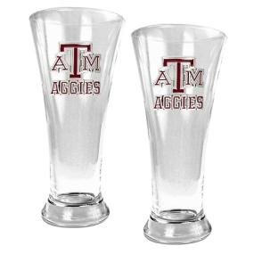 Texas A&M Aggies 2pc 19oz Pilsner Glass Set