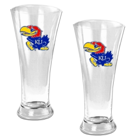 Kansas Jayhawks 2pc 19oz Pilsner Glass Set