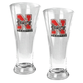 Nebraska Cornhuskers 2pc 19oz Pilsner Glass Set