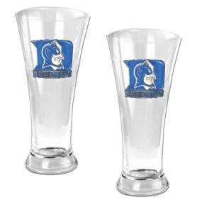 Duke Blue Devils 2pc 19oz Pilsner Glass Set