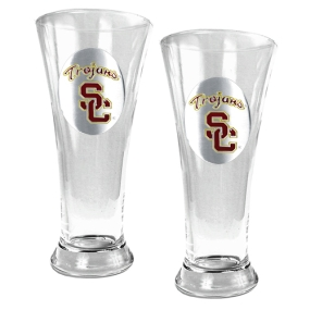 USC Trojans 2pc 19oz Pilsner Glass Set