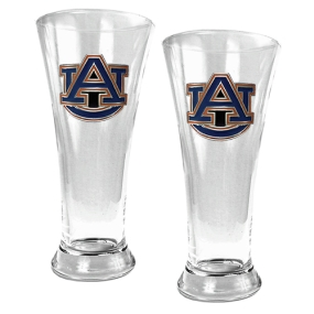 Auburn Tigers 2pc 19oz Pilsner Glass Set