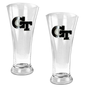 Georgia Tech Yellow Jackets 2pc 19oz Pilsner Glass Set