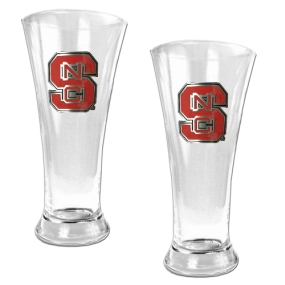 N.C. State Wolfpack 2pc 19oz Pilsner Glass Set