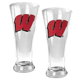 Wisconsin Badgers 2pc 19oz Pilsner Glass Set