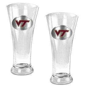 Virginia Tech Hokies 2pc 19oz Pilsner Glass Set