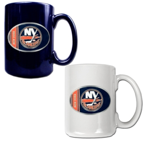 New York Islanders 2pc 15oz Ceramic Mug Set