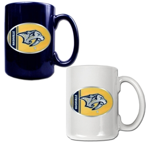 Nashville Predators 2pc 15oz Ceramic Mug Set