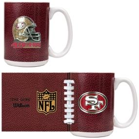 San Francisco 49ers 2pc GameBall Coffee Mug Set